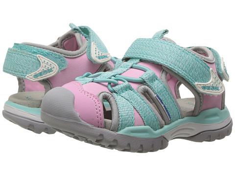 Geox Kids Jr Borealis Girl 3 (Toddler/Little Kid) - Light Pink/Watersea