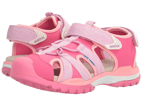 Geox Kids Jr Borealis Girl 3 (Little Kid/Big Kid) - Lilac/Light Coral