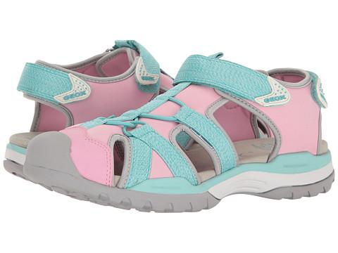 Geox Kids Jr Borealis Girl 3 (Big Kid) - Light Pink/Watersea