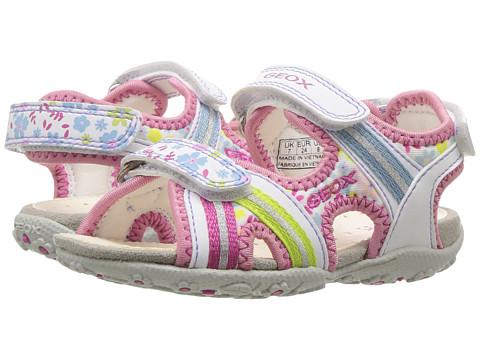 Geox Kids Jr Roxanne Girl 37 (Toddler/Little Kid) - White/Multicolor