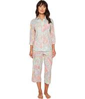 LAUREN Ralph Lauren - Cotton Rayon Lawn 3/4 Sleeve Capri PJ