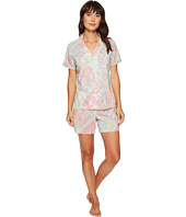 LAUREN Ralph Lauren - Short Sleeve Notch Collar Boxer PJ