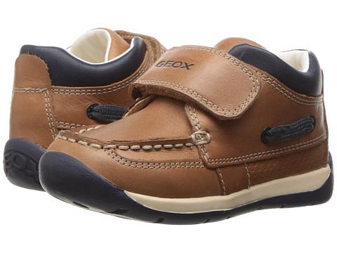 Geox Kids Baby Each Boy 13 (Infant/Toddler) - Caramel/Navy