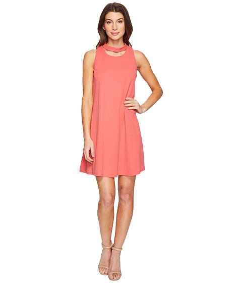 Christin Michaels Harlyn Sleeveless Dress with Neckline Detail