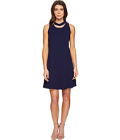 Christin Michaels - Harlyn Sleeveless Dress with Neckline Detail