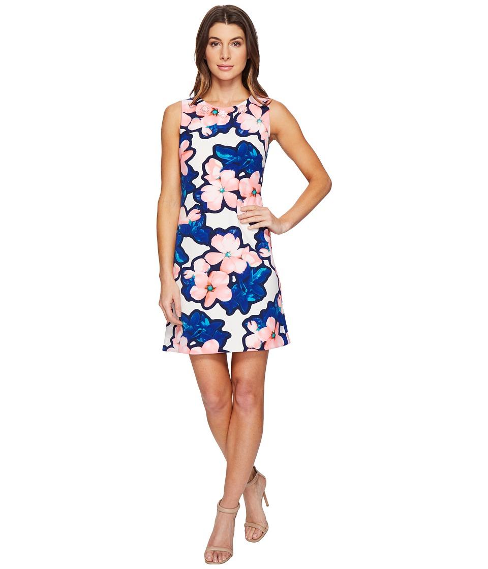 Christin Michaels Dima Sleeveless Floral Dress (Watermelon/Blue) Women