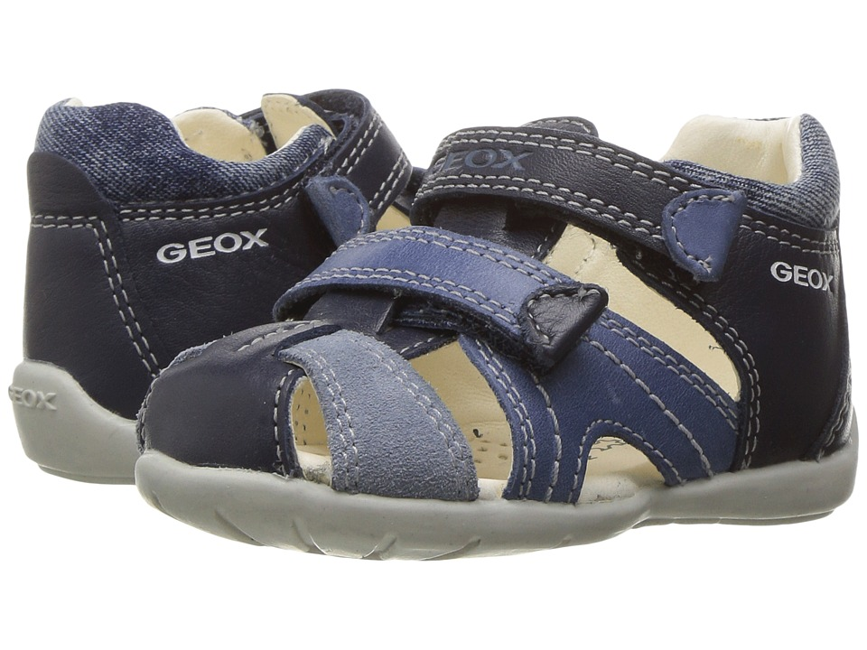 Geox Kids - Baby Kaytan Boy 26 (Infant/Toddler) (Navy/Lig...