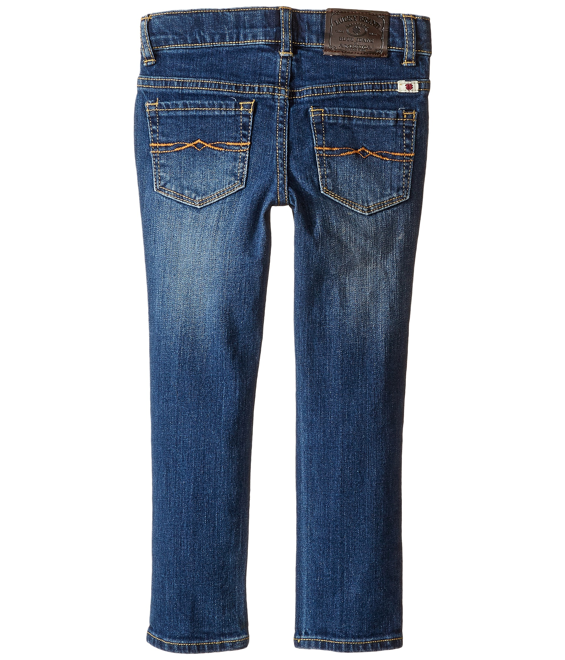 Lucky brand kids zoe jeans with embroidery in blue wash
