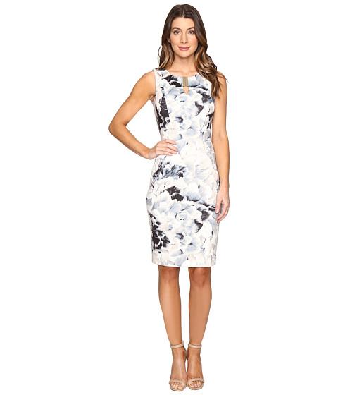 Calvin Klein Printed Sheath w/ Hardware Dress
