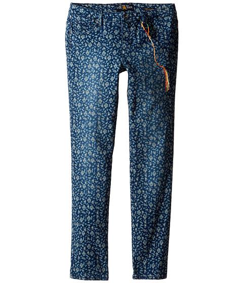 Lucky Brand Kids Printed Zoe Jeans in Dark Indigo (Big Kids)