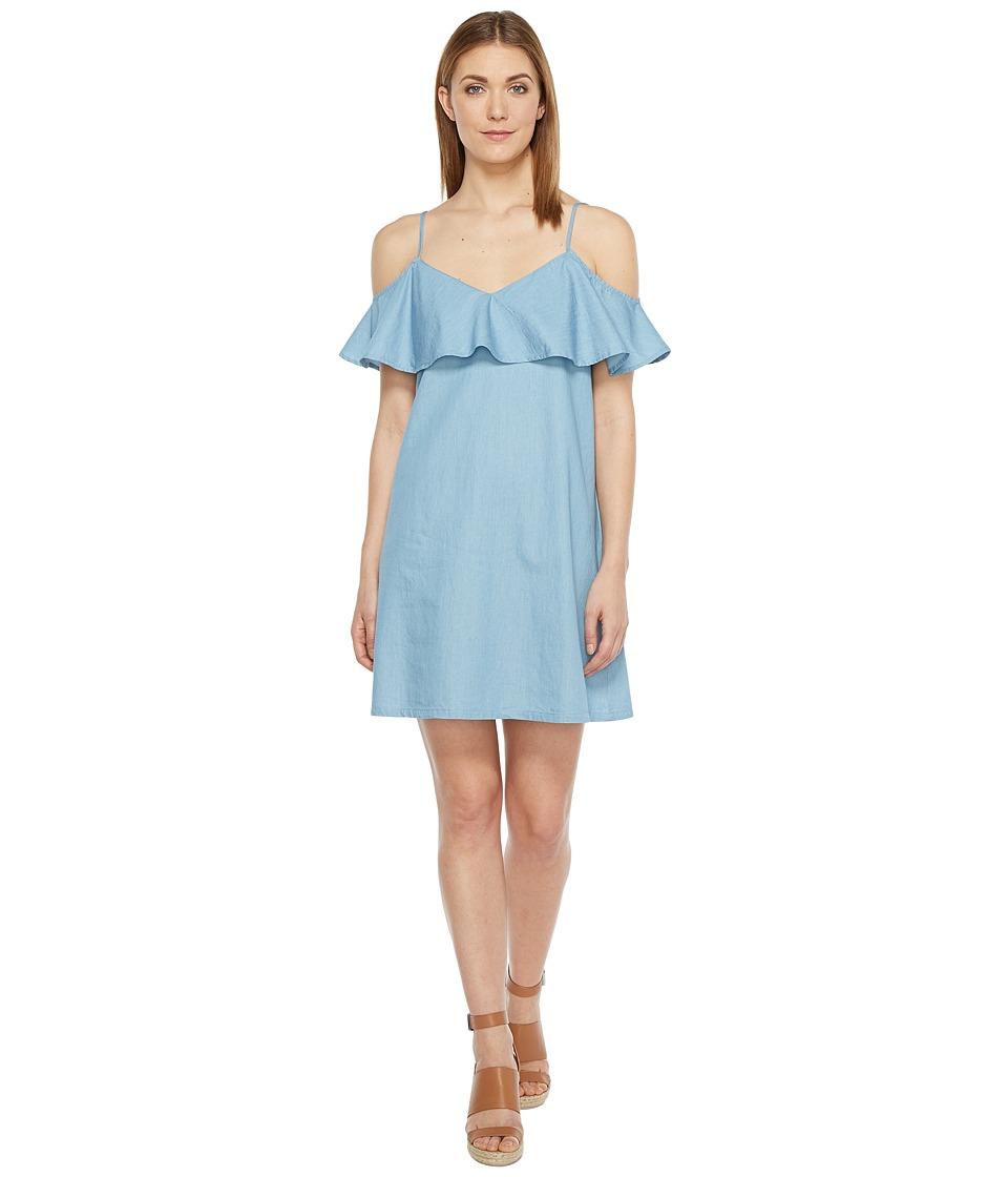 Brigitte Bailey Armelle Off the Shoulder Dress (Denim) Women