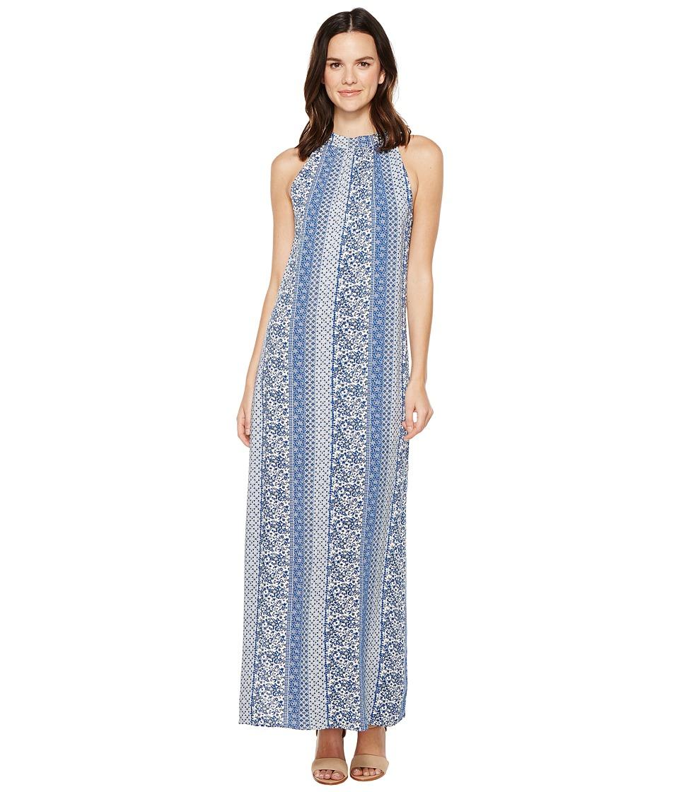 Brigitte Bailey Arron Printed Maxi Dress (Blue) Women