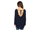 Diara Long Sleeve Top with Open Back