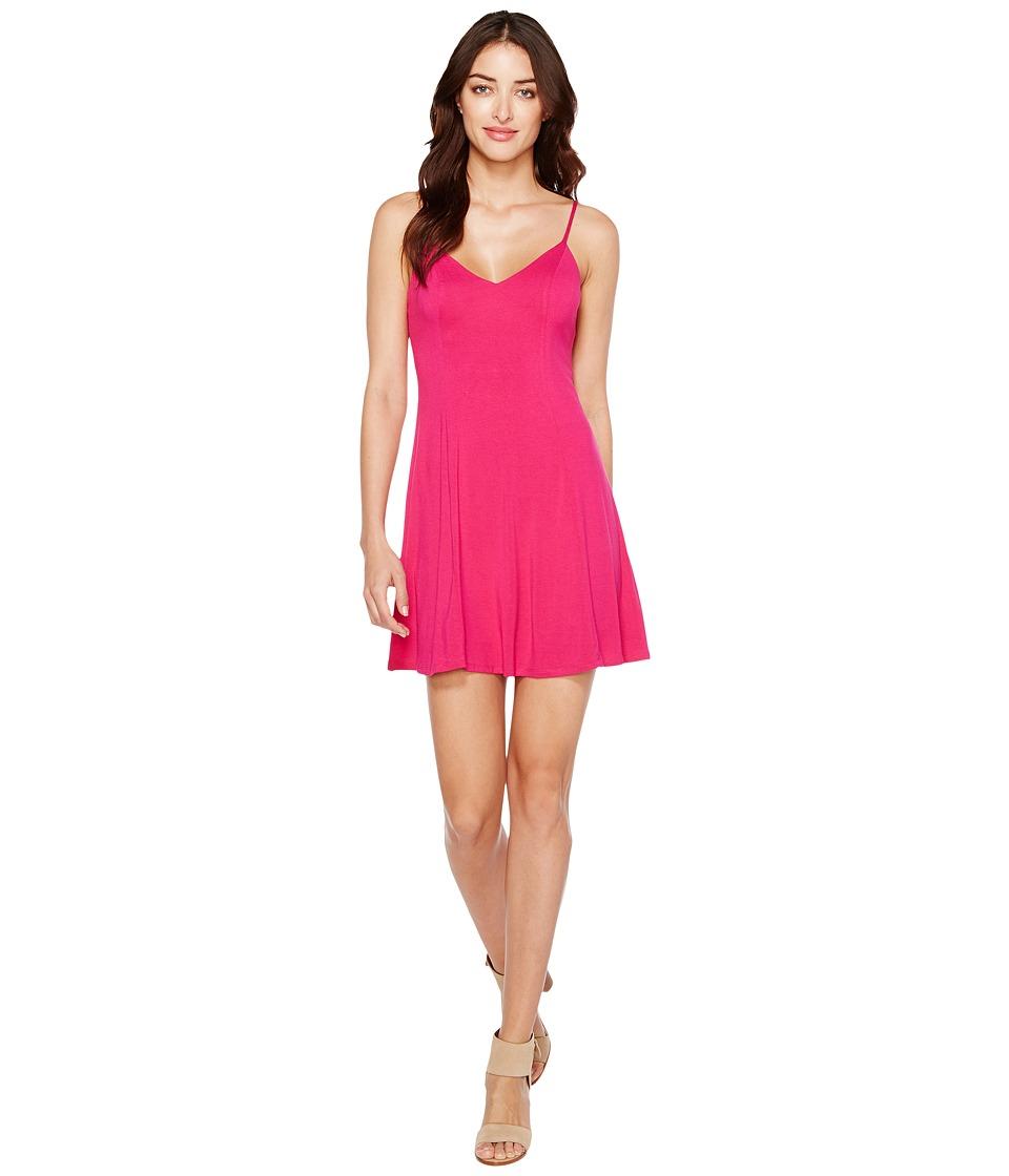 Brigitte Bailey Aby Spaghetti Strap Dress (Hot Pink) Women