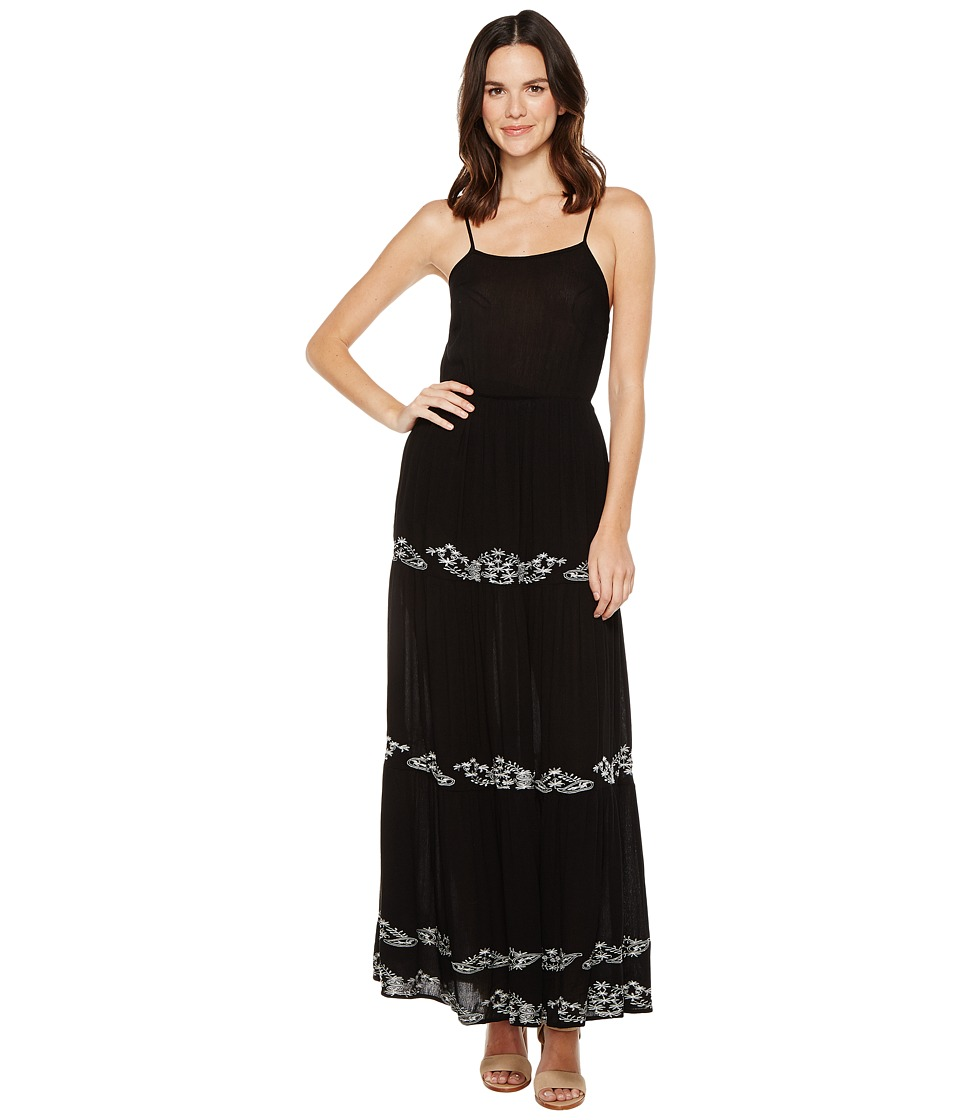 Brigitte Bailey Blaine Maxi Dress with Embroidery (Black) Women