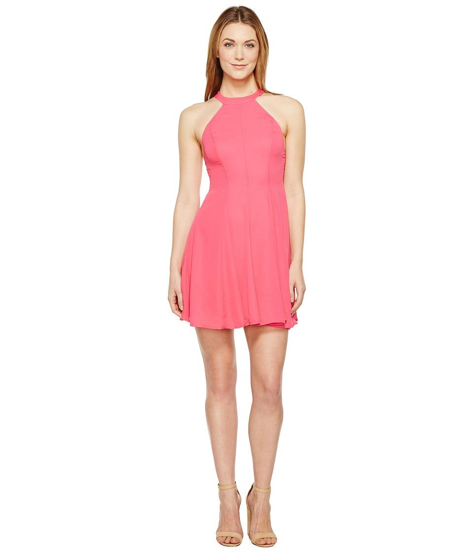 Brigitte Bailey Akeema High Neck Dress (Pink) Women