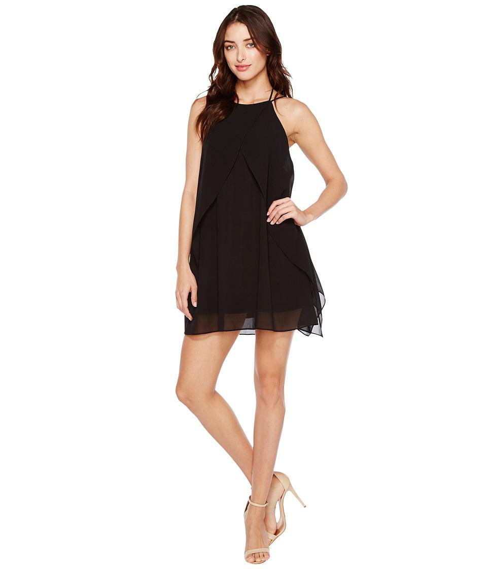 Brigitte Bailey Cyndel Spaghetti Strap Ruffle Dress (Black) Women