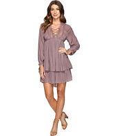 Brigitte Bailey - Halima Long Sleeve Tie-Front Dress