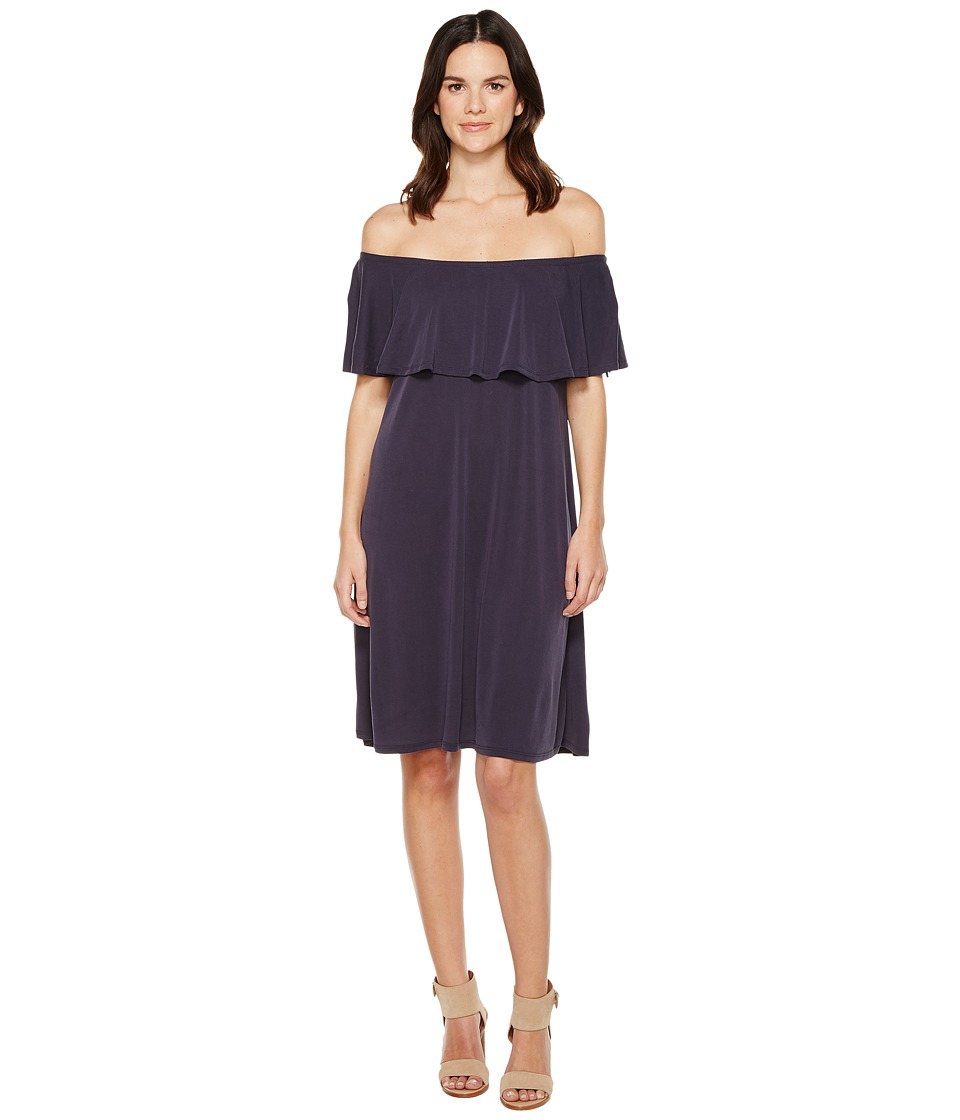 Brigitte Bailey Ayaka Off the Shoulder Dress (Navy) Women