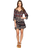 Brigitte Bailey - Nisha 3/4 Sleeve Tie-Front Ruffle Dress