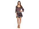 Nisha 3/4 Sleeve Tie-Front Ruffle Dress