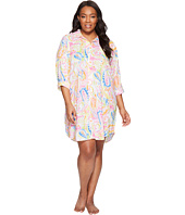 LAUREN Ralph Lauren - Plus Size Cotton Rayon Lawn His Shirt