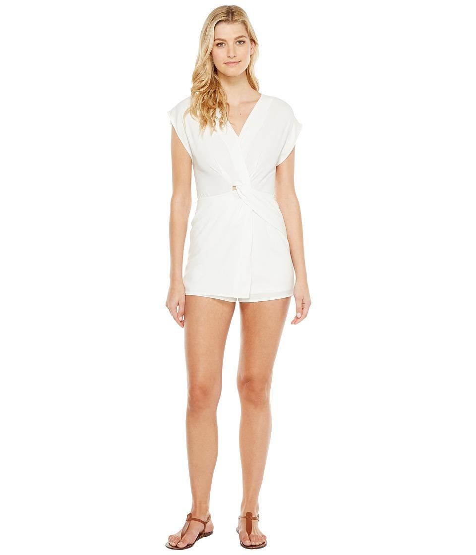 Brigitte Bailey Camari Twist Front Romper (White) Women's...
