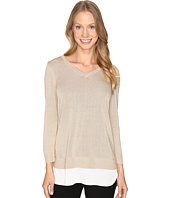 Calvin Klein - V-Neck Lurex Sweater