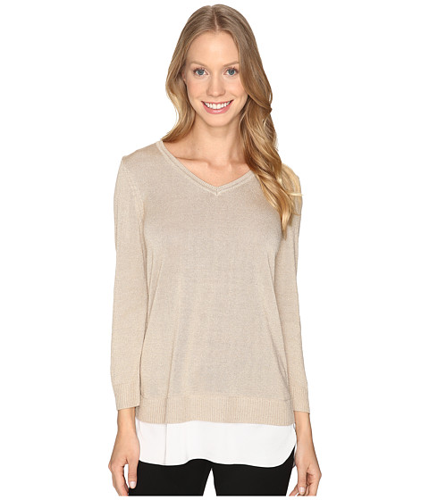 Calvin Klein V-Neck Lurex Sweater