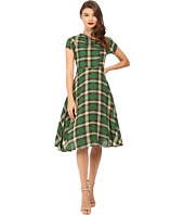 Unique Vintage - Cap Sleeve Cut Out Swing Dress