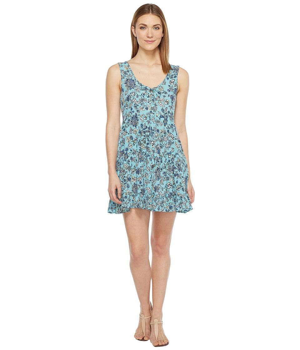 Brigitte Bailey Bardot Sleeveless Tie-Front Dress (Blue) Women
