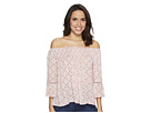 Mae Off the Shoulder Top with Lace Inset