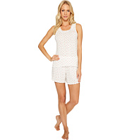 LAUREN Ralph Lauren - Striped Pointelle Tank Top Short Set