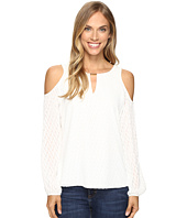 Calvin Klein - Textured Cold Shoulder Top