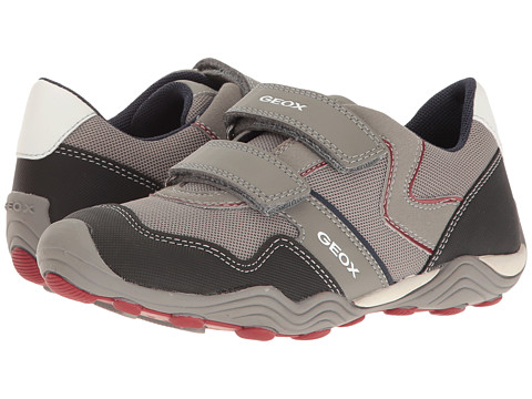 Geox Kids Jr Arno Boy 15 (Little Kid/Big Kid) - Grey/Dark Red
