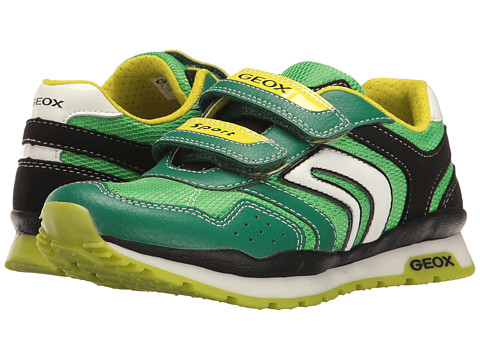 Geox Kids Jr Pavel Boy 16 (Little Kid/Big Kid) - Green/Lime
