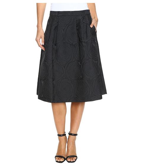Calvin Klein A-Line Jacquard Skirt - Black