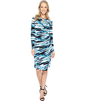 Calvin Klein - Printed Wrap Dress w/ Hardware