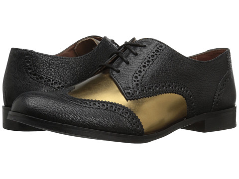 Cole Haan Jagger Wing Oxford - Black/Gold Leather