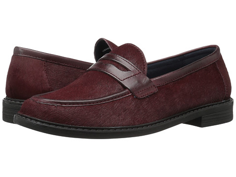 Cole Haan Pinch Campus Penny - Dark Red/Twine Patent Haircalf Leather