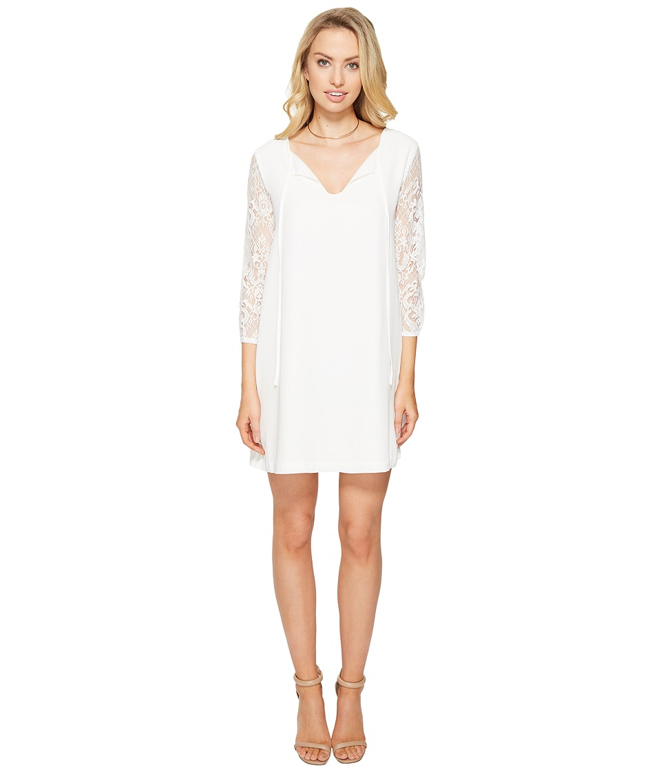 BB Dakota Helene Lace Sleeve Shift Dress (Ivory) Women