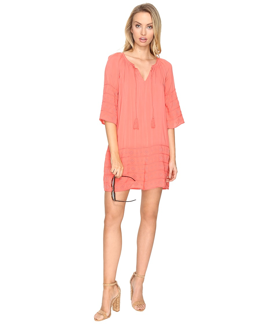 BB Dakota Kam Embroidered Shift Dress (Cantaloupe) Women