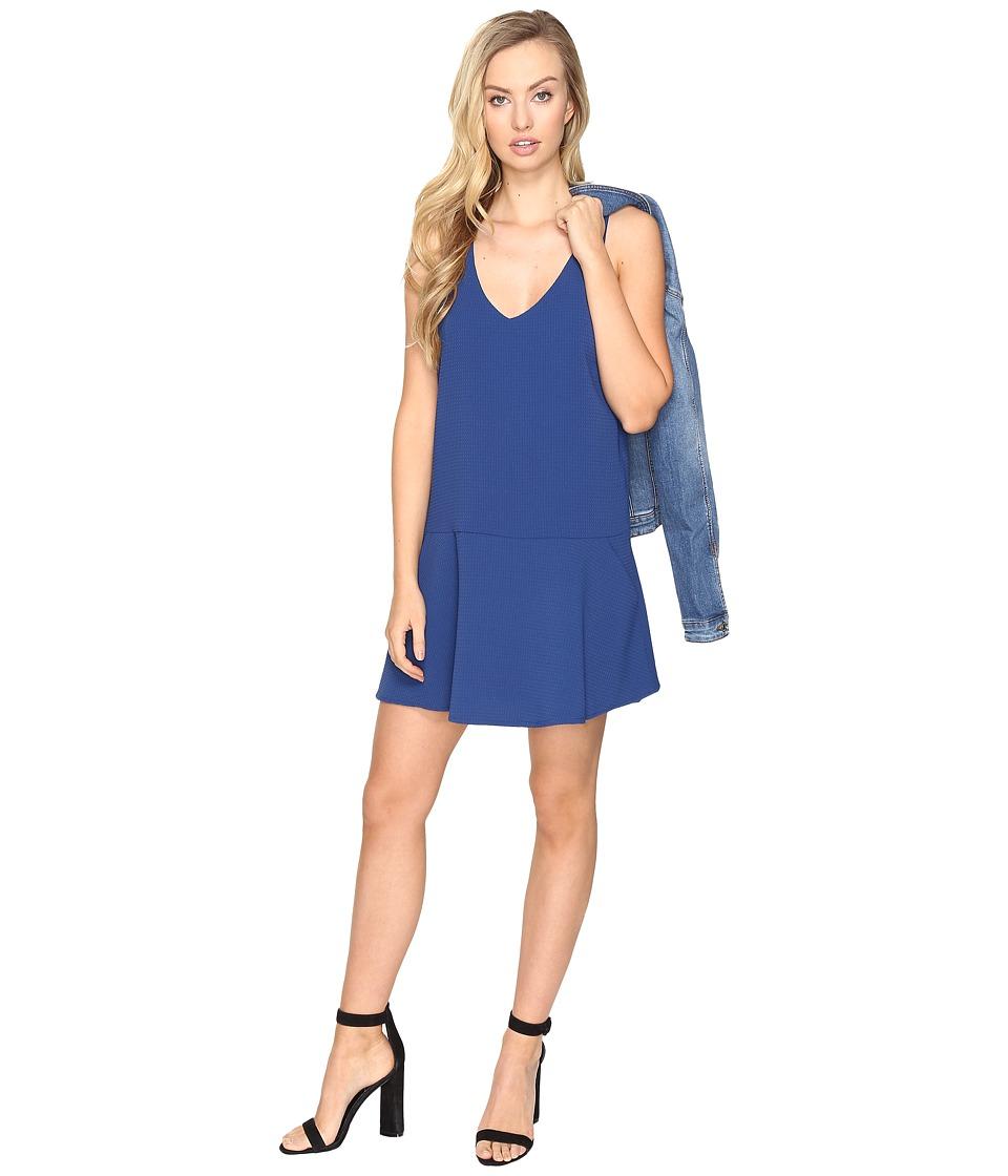 BB Dakota Jarvis Textured Shift Dress (Indigo) Women