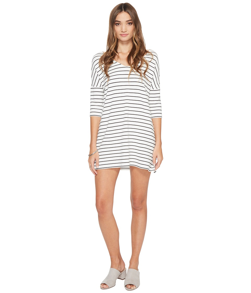 BB Dakota Jaxson Striped Shift Dress (Ivory) Women