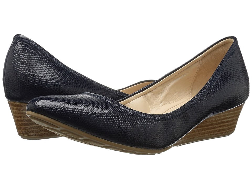Cole Haan Tali Luxe Wedge 40 (Blazer Blue Lizard) Women
