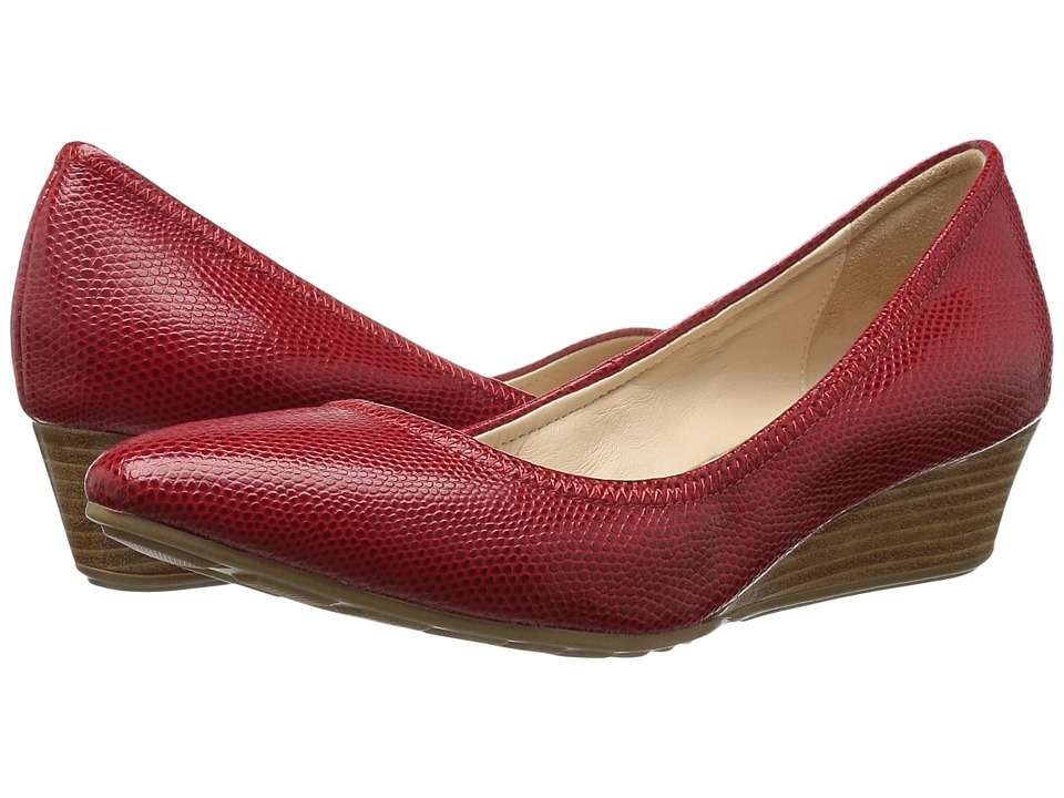 Cole Haan Tali Luxe Wedge 40 (Red/Molten Lava Lizard) Women