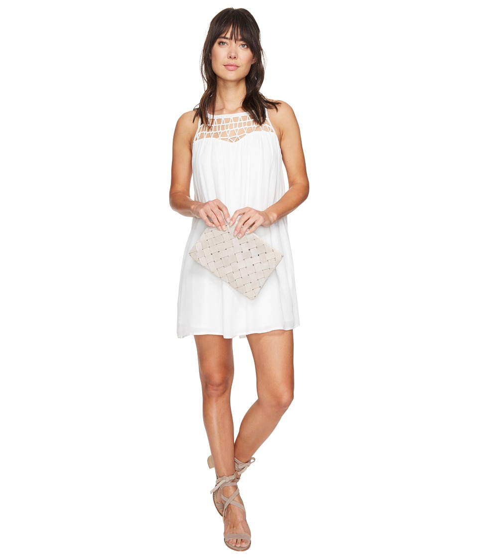 BB Dakota Astor Crochet Yoke Shift Dress (Ivory) Women