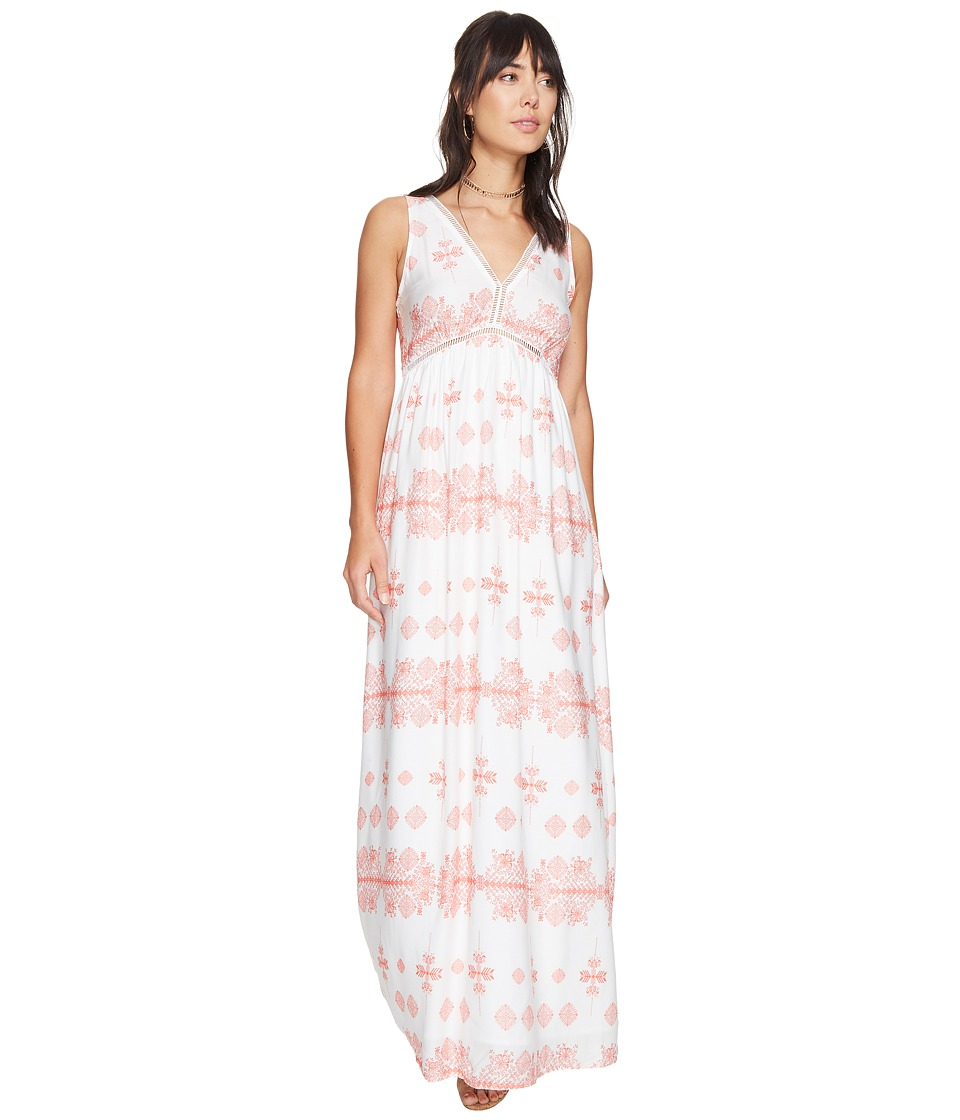 BB Dakota Havanah Printed Maxi Dress (Cantaloupe) Women