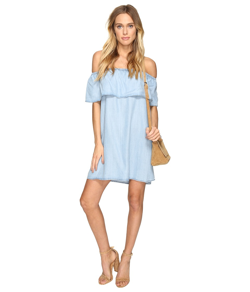 BB Dakota Maci Off the Shoulder Dress (Light Blue) Women