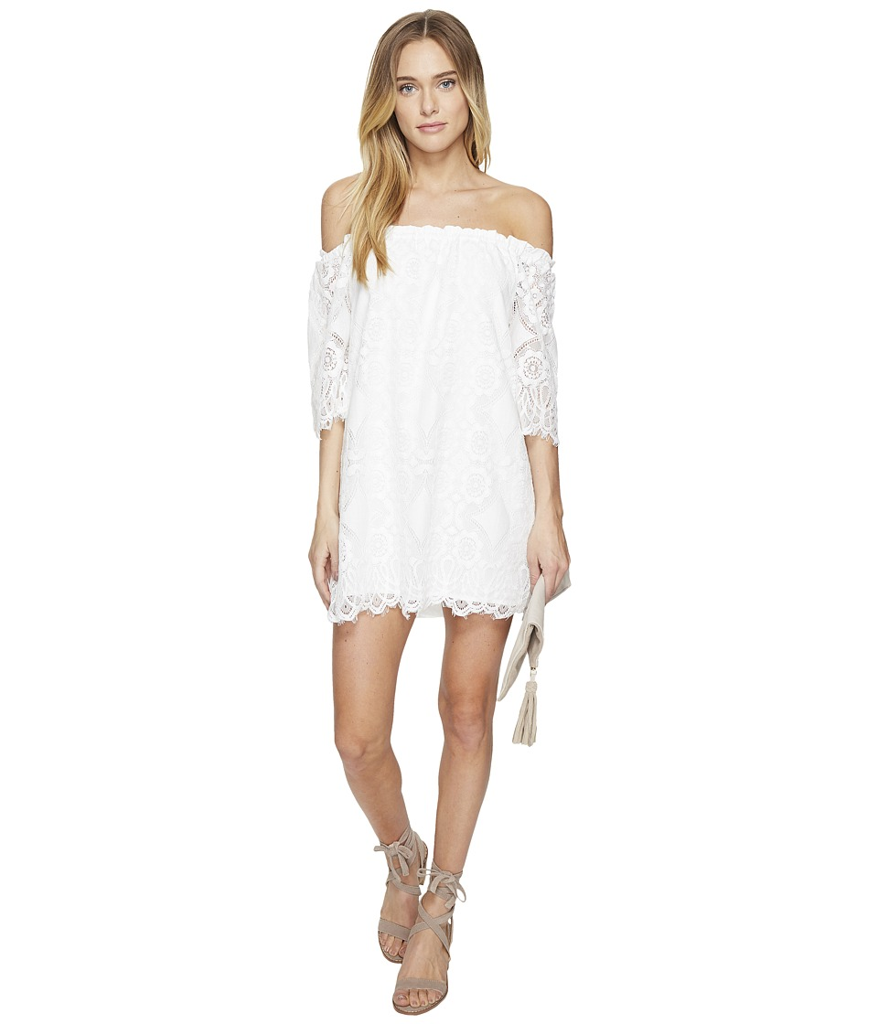 BB Dakota Halden Off the Shoulder Lace Dress (Ivory) Women